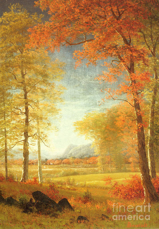 Autumn in america art print by albert bierstadt for America s finest paint