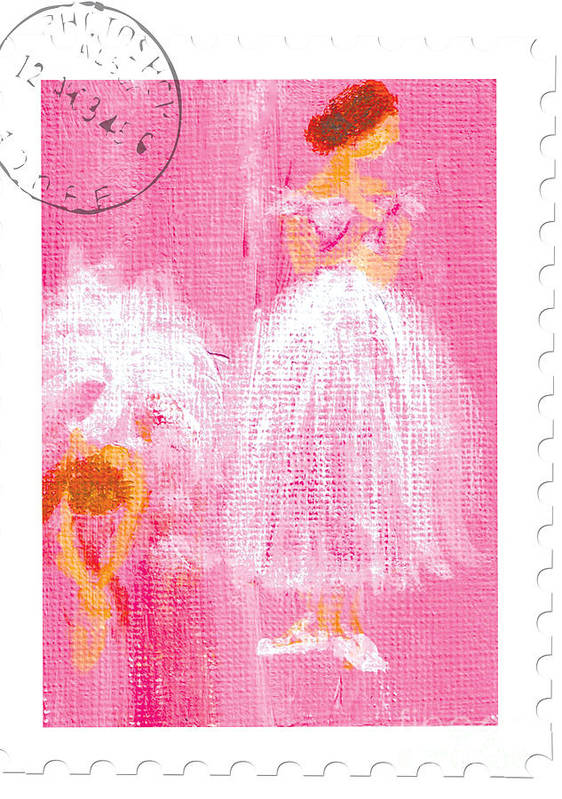 Ballet Art Print featuring the painting Ballet Sisters 2007 by Marie Loh