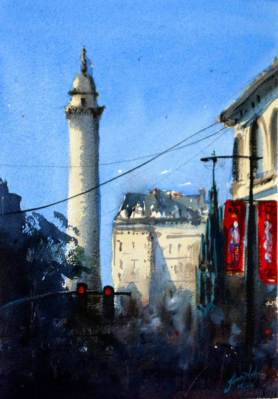 Baltimore Art Print featuring the painting Baltimore, Near Peabody by James Nyika