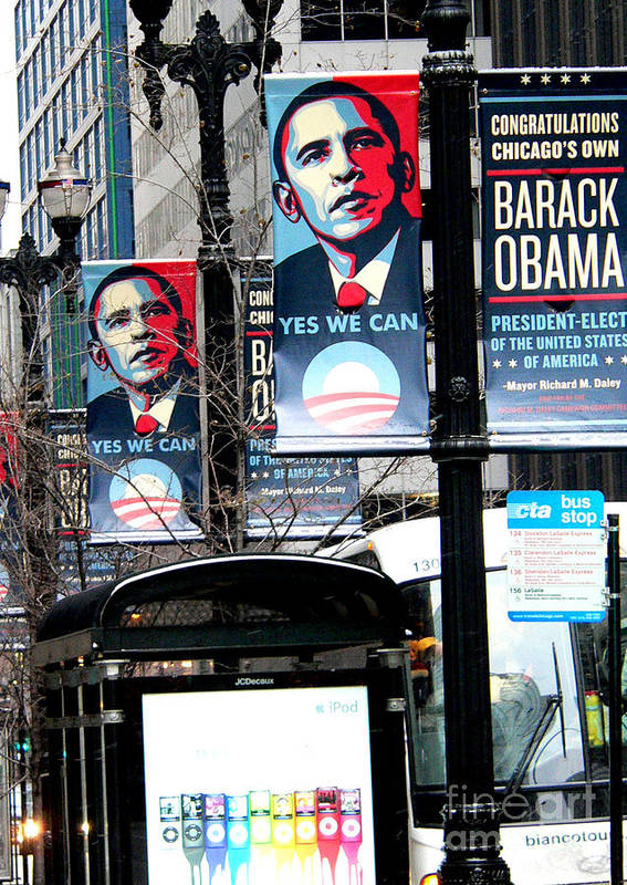 Barack Obama Print featuring the photograph Before The Heavy Lifting Begins by David Bearden