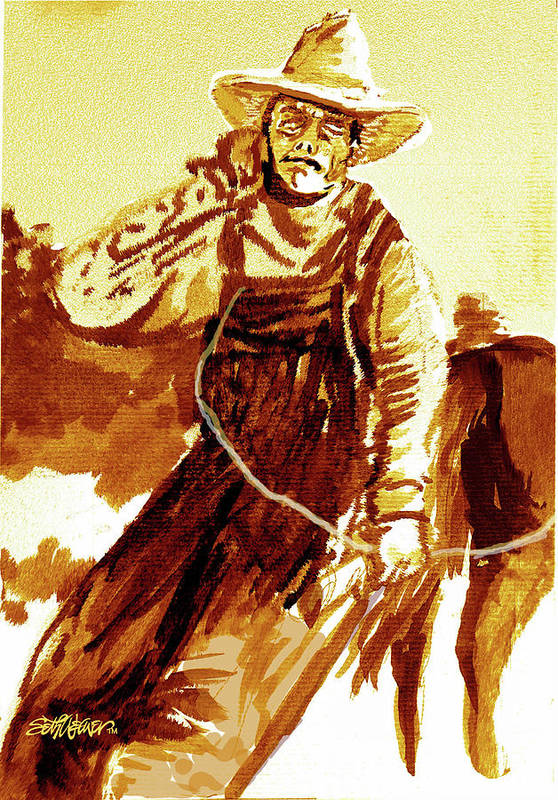 Tobacco Art Print featuring the mixed media Behind The Plow by Seth Weaver
