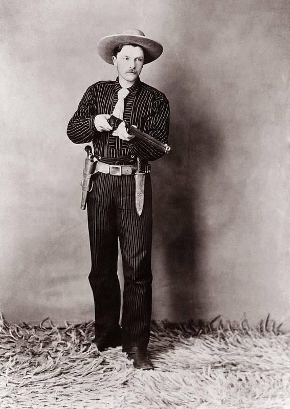 History Art Print featuring the photograph Bill Bennett, Wild West Detective by Everett
