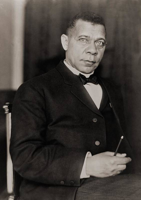 History Print featuring the photograph Booker T. Washington 1856-1915, Became by Everett