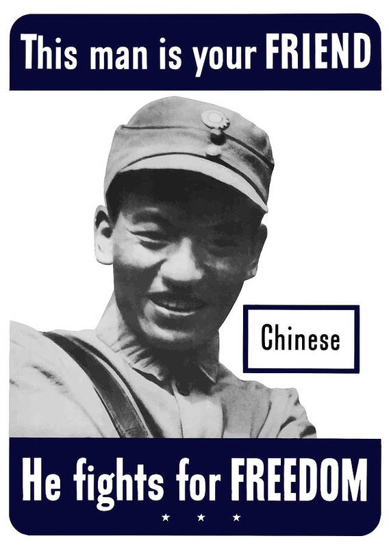 Chinese Soldier Art Print featuring the painting Chinese This Man Is Your Friend by War Is Hell Store