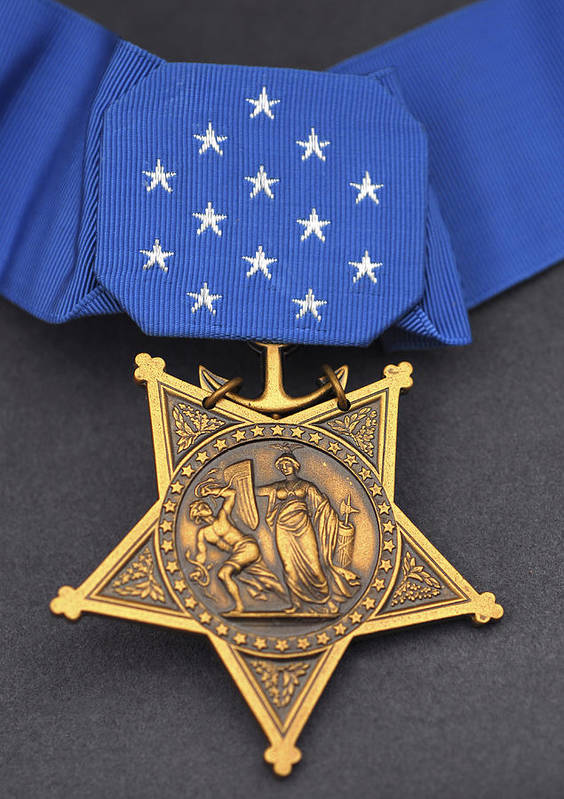 Medal Of Honor Print featuring the photograph Close-up Of The Medal Of Honor Award by Stocktrek Images
