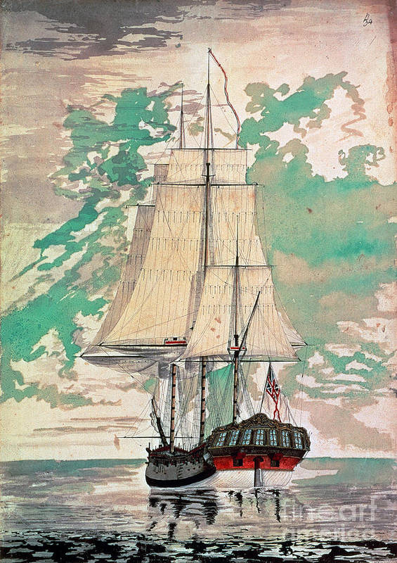 1770s Art Print featuring the photograph Cook: Hms Resolution by Granger