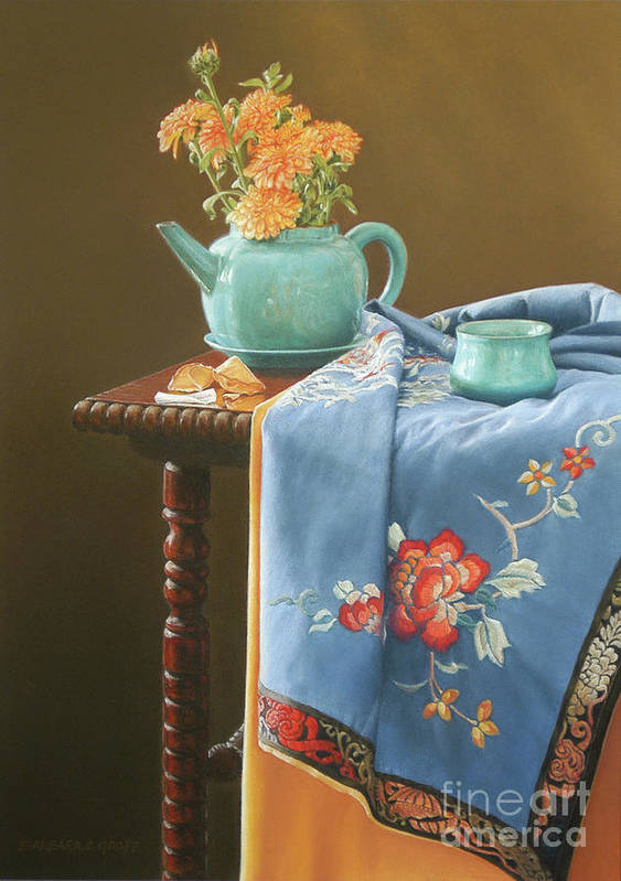 Still Life Art Print featuring the painting Cookie's Fortune by Barbara Groff