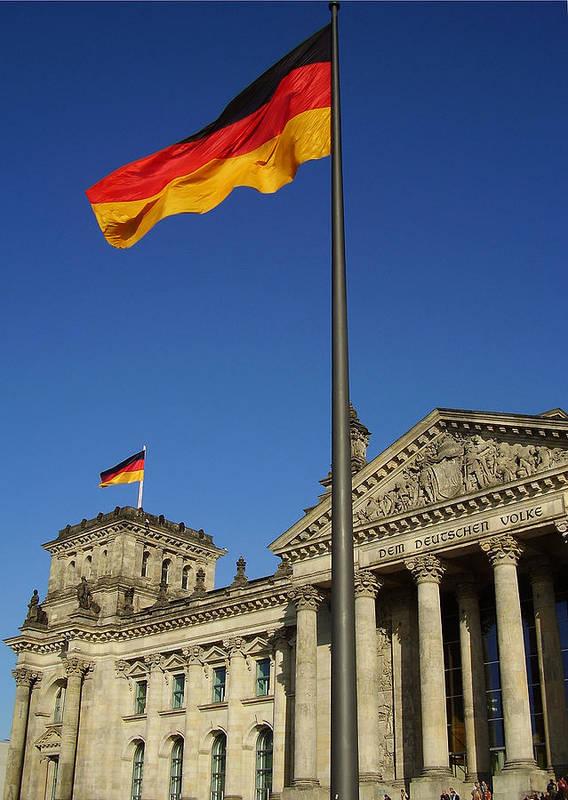 Deutscher Bundestag Art Print featuring the photograph Deutscher Bundestag by Flavia Westerwelle