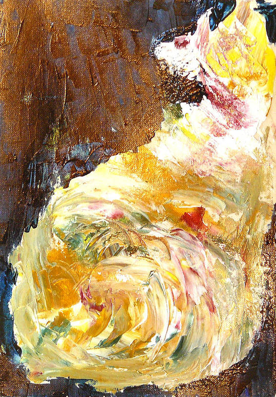 Dog Art Print featuring the painting Dog Scratching by Greg Gierlowski