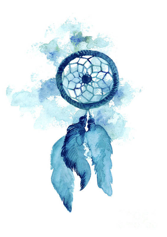 Dream Catcher Watercolor Art Print Painting Art Print By