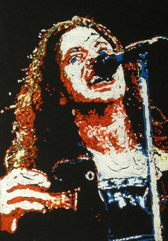 Pearl Jam Art Print featuring the painting Eddie Vedder by Grant Van Driest