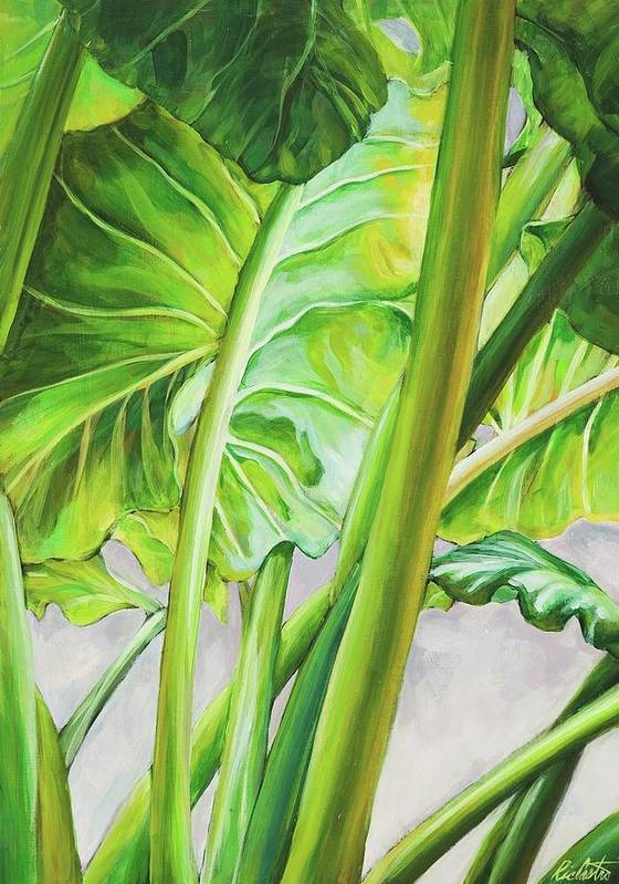 Landscape Art Print featuring the painting Elephant Ears by Ric Castro