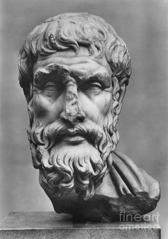 3rd Century B.c Art Print featuring the photograph Epicurus (342?-270 B.c.) by Granger