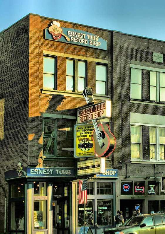 Records Art Print featuring the photograph Ernest Tubbs Record Store by Steven Ainsworth
