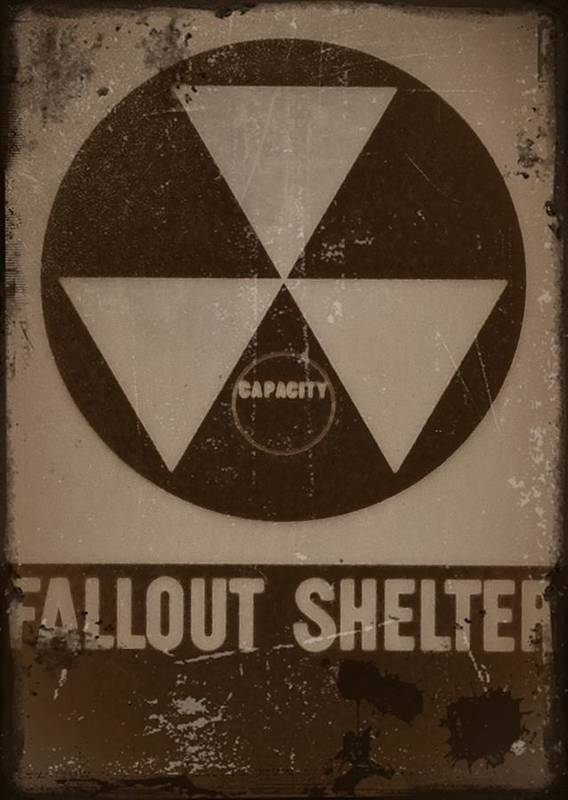 Nuclear Art Print featuring the photograph Fall Out Shelter by Bill Cannon