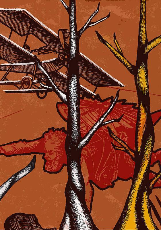 Nature Art Print featuring the painting Flight by Jeff DOttavio