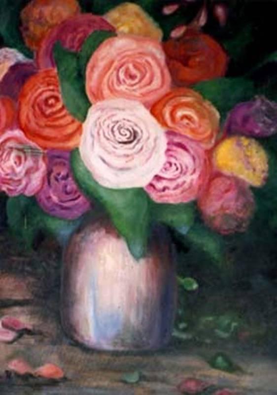 Flowers Art Print featuring the painting Flower Spirals by Jordana Sands