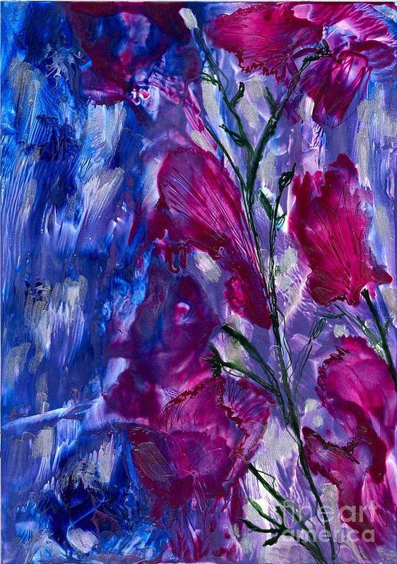 Flowers Art Print featuring the painting For Melanie R by Heather Hennick
