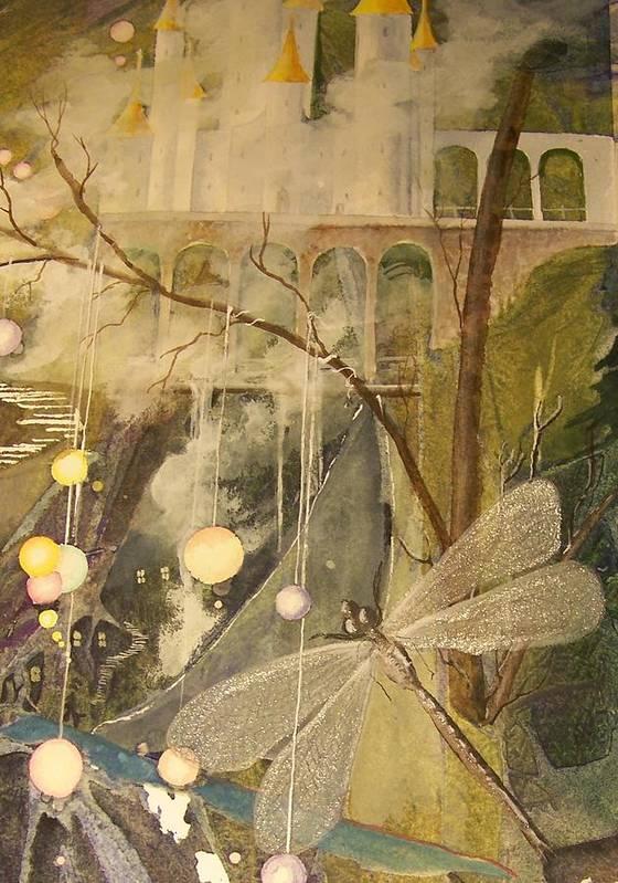 Castle Art Print featuring the painting Ganth IIi by Jackie Mueller-Jones