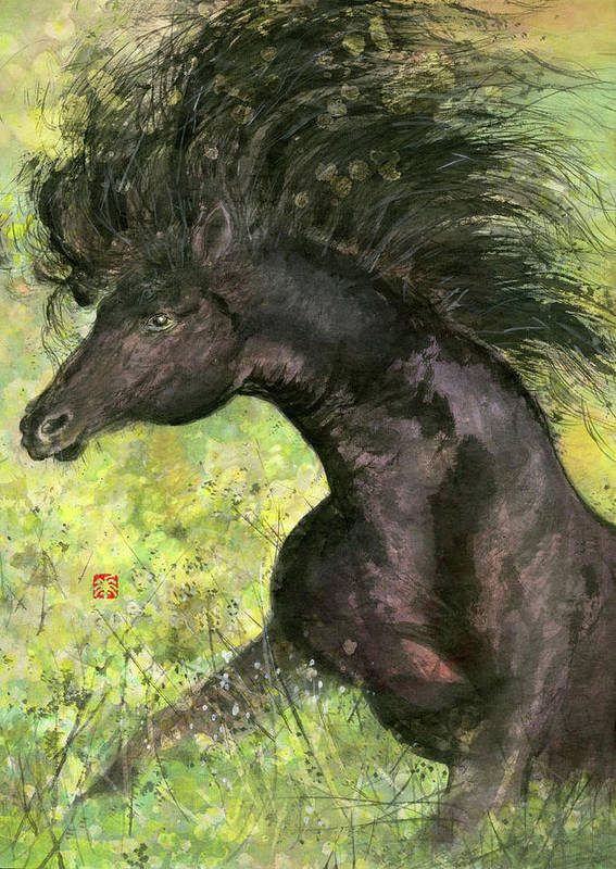 Horse Art Print featuring the painting Horse - 7 by River Han