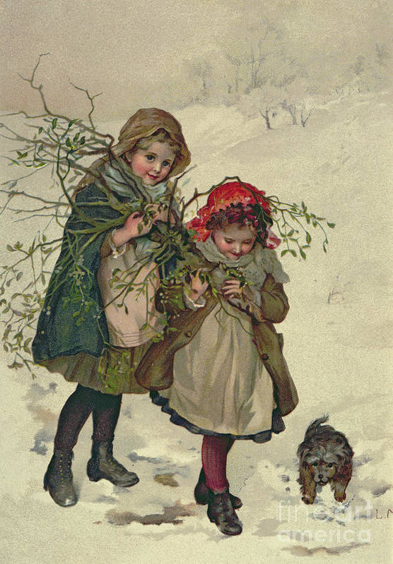 Illustration Art Print featuring the painting Illustration From Christmas Tree Fairy by Lizzie Mack