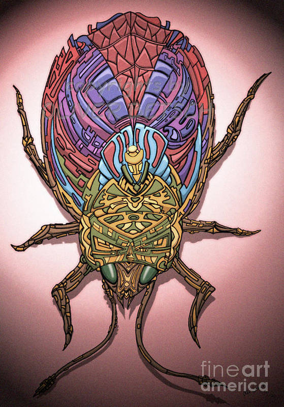 Insect Art Print featuring the drawing Insect by Oliver Betsch