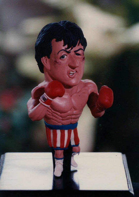 Sylvester Stallone Art Print featuring the sculpture Inspired Rocky by Joaquin Carrasquilla