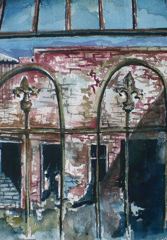 Jerome Art Print featuring the painting Jerome Ruins by Aleksandra Buha