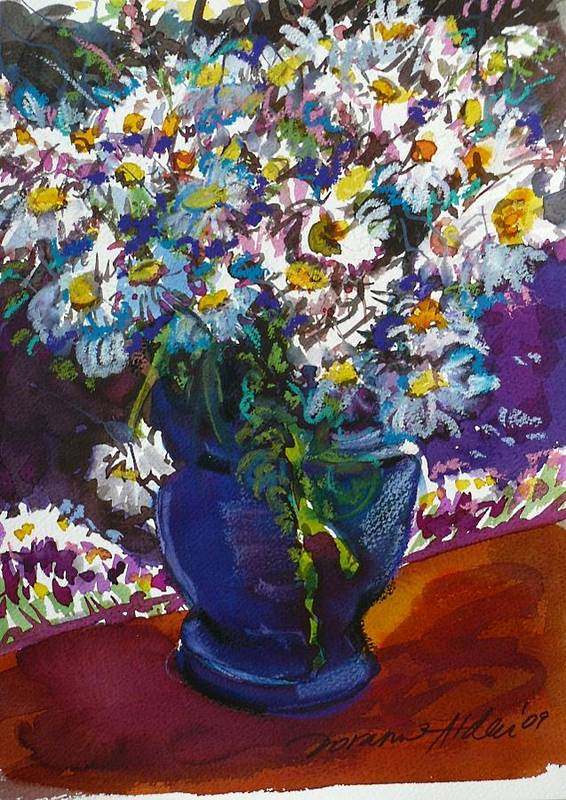 Daisies Art Print featuring the painting June Daisies by Doranne Alden