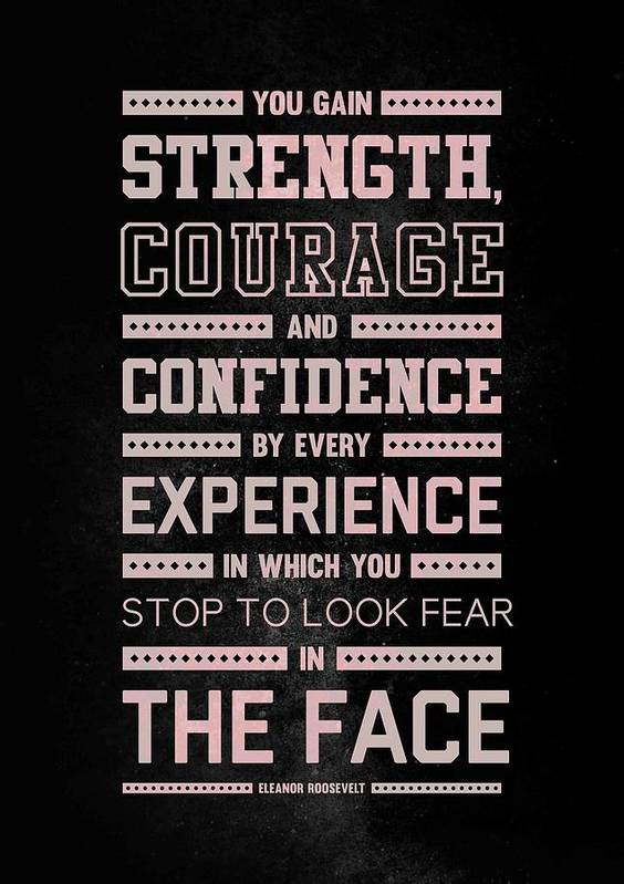 Lab N 4 Strength Does Not Come Arnold Schwarzenegger Motivational Quote Art Print