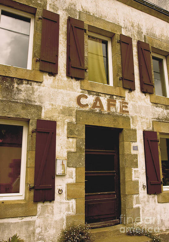 Alcohol Print featuring the photograph Le Vieux Cafe  The Old Cafe Bar by Mark Hendrickson