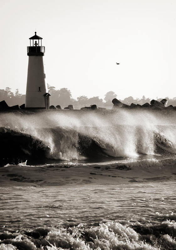 Americana Art Print featuring the photograph Lighthouse 1 by Marilyn Hunt