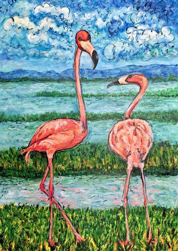 Lanscape Art Print featuring the painting Love Talk by Ericka Herazo