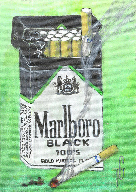 Marlboro Menthol Black 100s Art Print