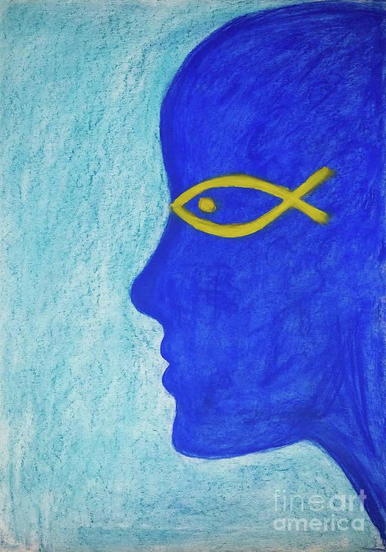 Portrait Art Print featuring the painting Mediterranean Dream by Lara Azurra
