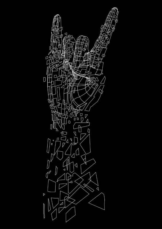 Vector Art Print featuring the digital art Metal by Andreas Leonidou