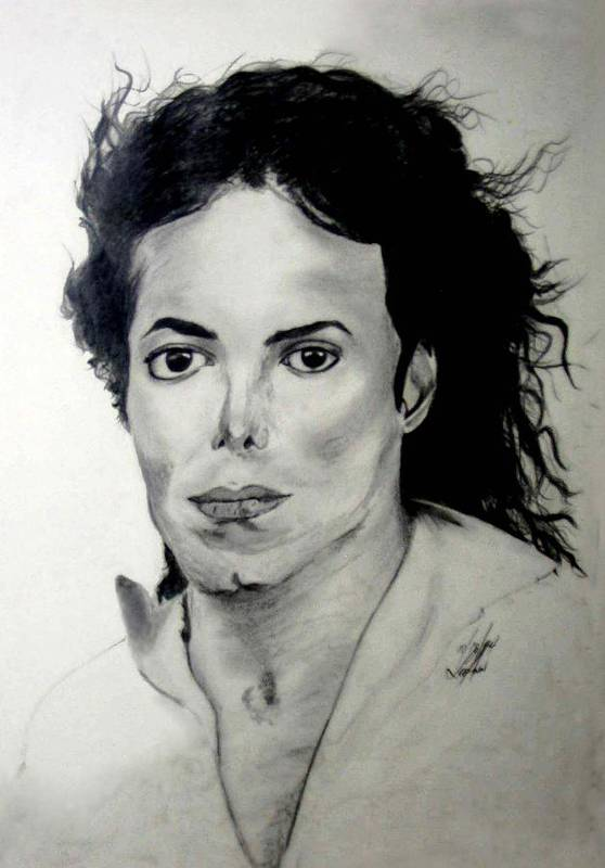Drawing Art Print featuring the drawing Michael by LeeAnn Alexander