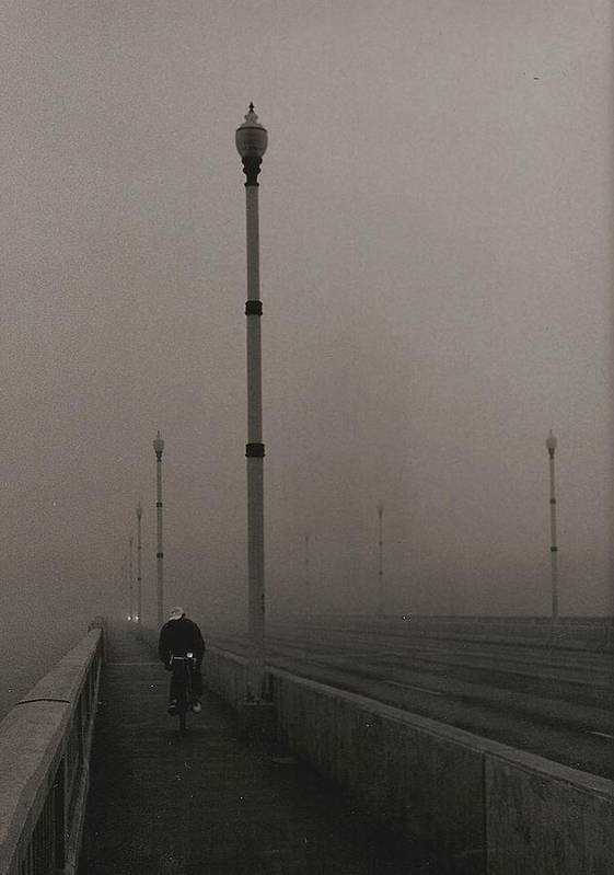 Photo Art Print featuring the photograph Morning Cyclist by Arnold Isbister
