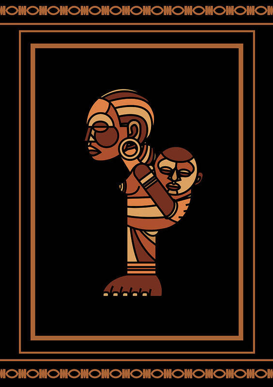 Africa Art Print featuring the digital art Mother And Child by Adz Akin