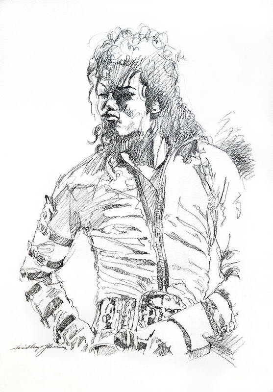 Michael Jackson Art Print featuring the drawing Mr. Jackson by David Lloyd Glover
