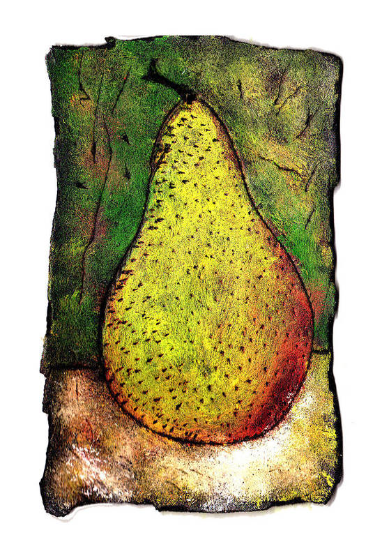 Pear Art Print featuring the painting My Favorite Pear One by Wayne Potrafka