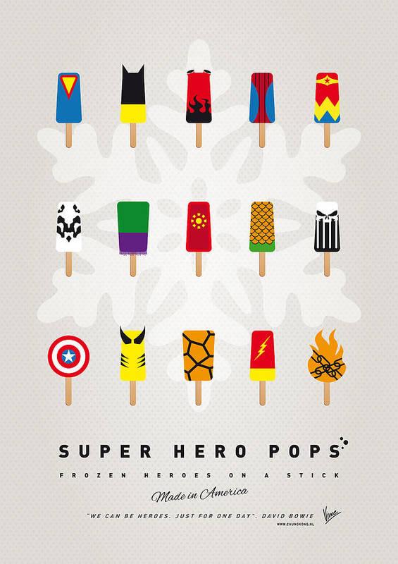 Superheroes Art Print featuring the digital art My Superhero Ice Pop - Univers by Chungkong Art