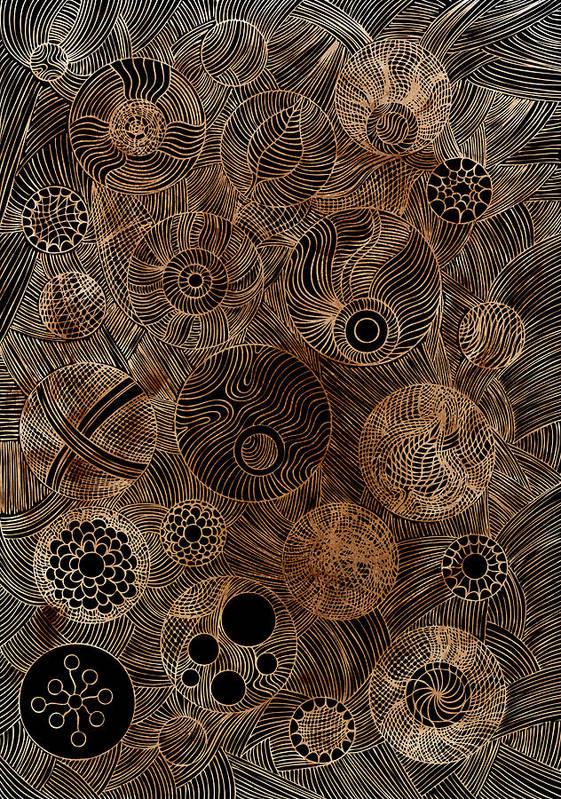 Frank Tschakert Art Print featuring the painting Organic Forms by Frank Tschakert