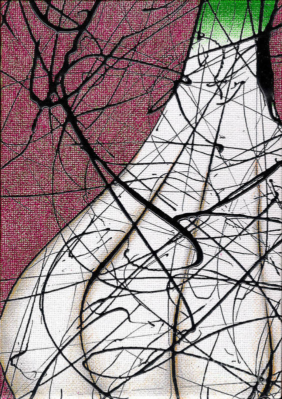 Pareidolia Art Print featuring the painting Organic Garlic Fresh From The Garden by Ismael Cavazos