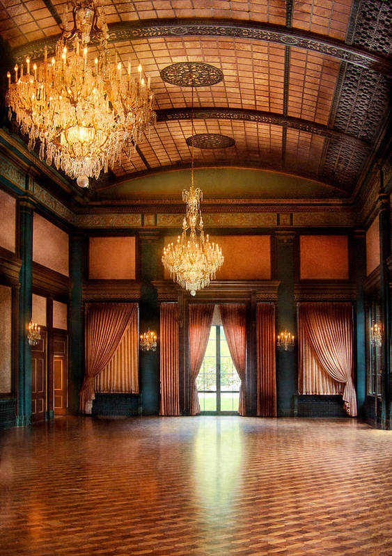 Hdr Print featuring the photograph Other - The Ballroom by Mike Savad