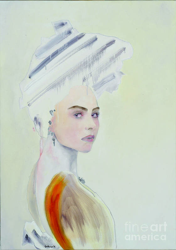 Art Print featuring the painting Parure by Krzis-Lorent Frederique