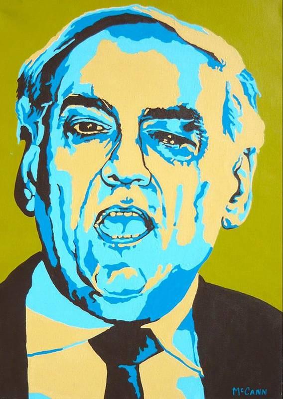 Politics Art Print featuring the painting Perle by Dennis McCann