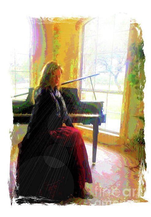 Piano Art Print featuring the digital art Piano Solstice by Donna Aloia