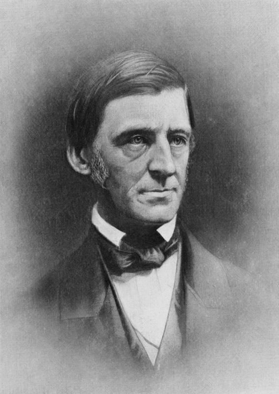 History Art Print featuring the photograph Ralph Waldo Emerson 1803-82 , American by Everett
