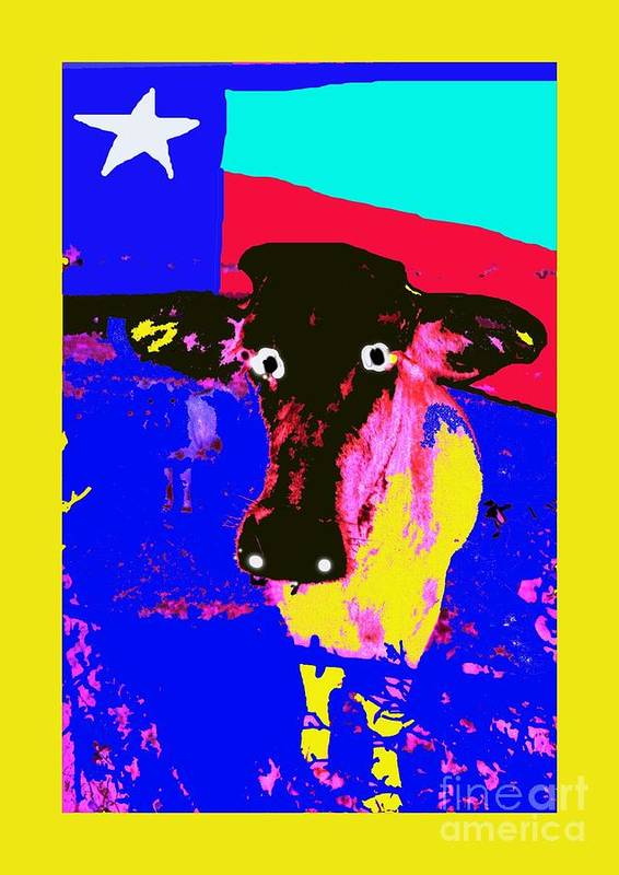 Cow Art Print featuring the photograph Ray's Cow by David Carter